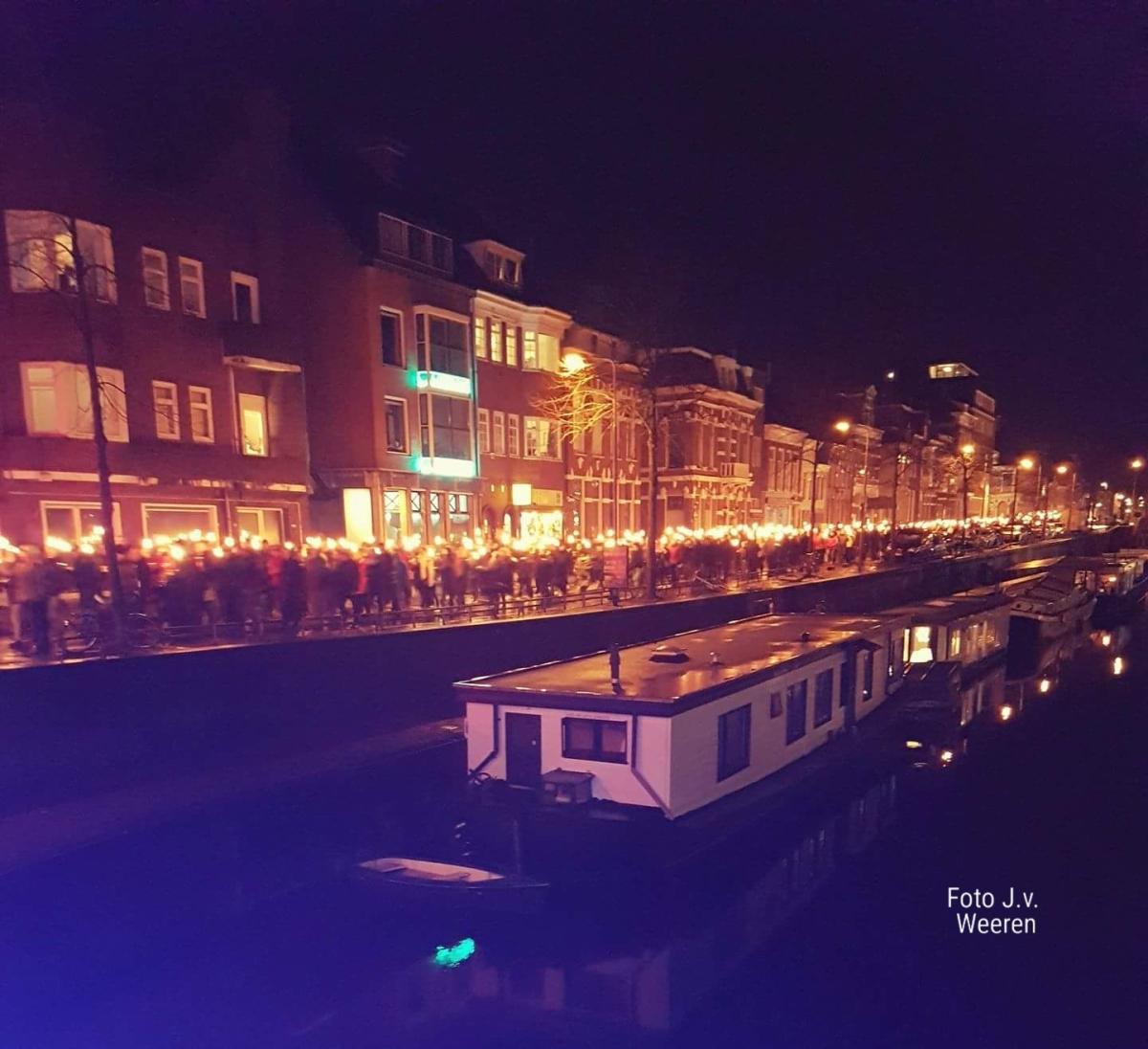Fakkeltocht in Groningen